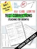 Test Corrections Unit 1: Geometry (Midpoint, Distance, Par