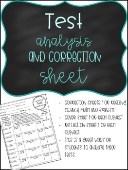 Test Corrections and Analysis