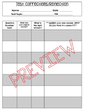 Test Corrections and Reflections (Editable, and PDF)