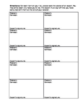Test Corrections and Revision Template