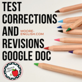 Test Corrections and Revisions Google Doc Freebie / Great