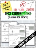Test Corrections for Unit 3 (Special Angle Pairs) - Common