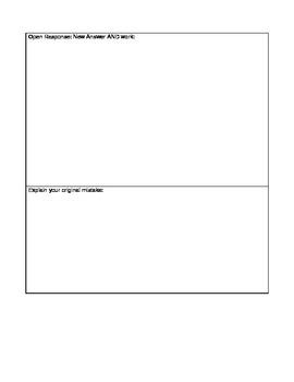 Test Corrections/Error Analysis