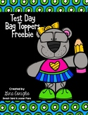 Test Day Bag Topper Freebie