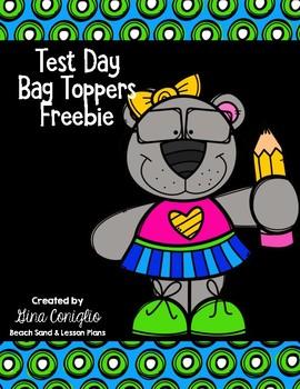 Test Day Bag Topper Freebie