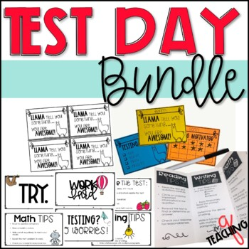 Test Day Tips Reminders And Motivation Bundle