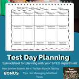 Test Day Planning for SPED Students