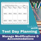 Test Day Tracker Sheet