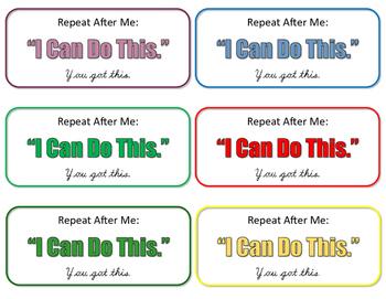 Test Encouragement Notes
