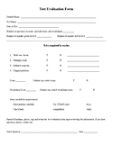 Test Evaluation Form