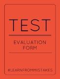 Test Evaluation Form