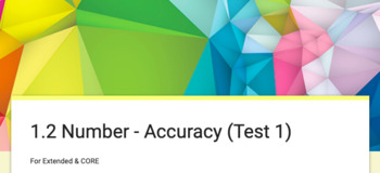 Test & Feedback - Number: Accuracy (Google Forms)