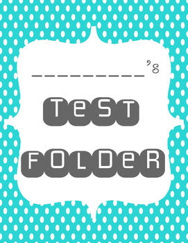Test Folder Cover
