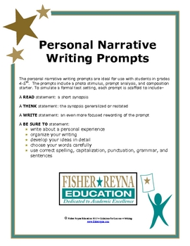 test formatted personal narrative writing prompts by