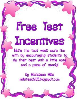 Test Incentives Freebie