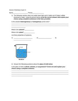 Test: Isotopes, ionic compound, density, properties of mixtures