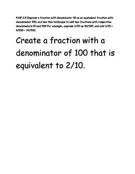 Test Item Spec Questions - MAFS.4.NF.3.5