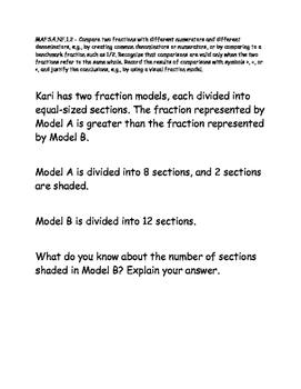 Test Item Spec Questions - MAFS.NF.1.2