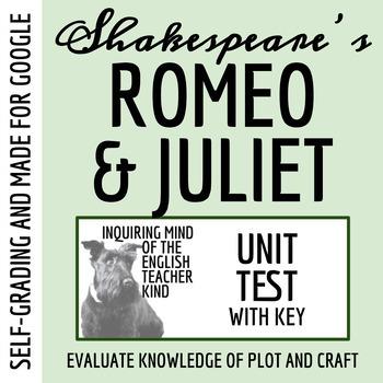 Romeo & Juliet Test & Key
