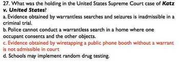 Test Landmark CRIMINAL US Supreme Court Cases