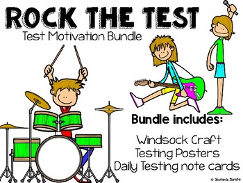 Test Motivation Bundle - Rock the Test Craft, Posters, and Cards