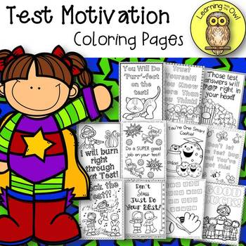 Test Motivation Coloring Pages FREEBIE
