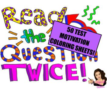 Test Motivation Coloring Sheets