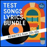 Testing Song Lyrics Bundle 50s to 60s