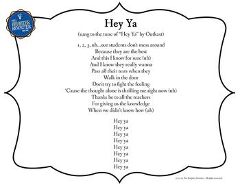Testing Song Lyrics for Hey Ya Rewrite