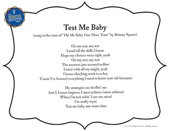 Testing Song Lyrics for Baby One More Time
