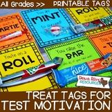 Test Motivation Treat Tags   Testing Motivation Treat Tags   Candy & Treat Tags
