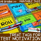 Test Motivation Treat Tags | Testing Motivation Treat Tags