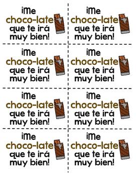 Test Motivation Treats in Spanish