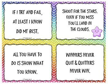 Motivational Testing Notes And Posters W Inspirational Quotes Tpt