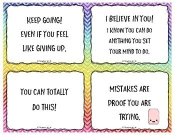 Motivational Testing Notes and Posters w/ Inspirational Quotes