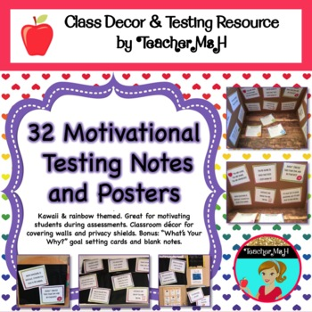 Motivational Testing Notes and Desk Privacy Shield Decor