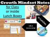 Test Motivational  and lunch notes -GROWTH MINDSET