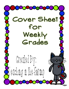 Test Paper Cover Sheet