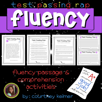 Test Passing Rap Fluency Passage and Comprehension Activities