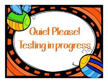 Test Poster - Quiet Please
