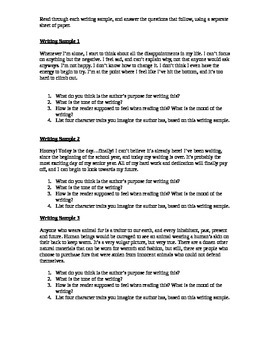 Tone And Mood Worksheet Teaching Resources Teachers Pay Teachers
