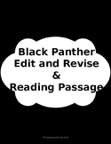 Black Panther Reading and Edit/Revise Passages: STAAR PREP
