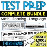 Math and ELA Test Prep for 3rd Grade BUNDLE