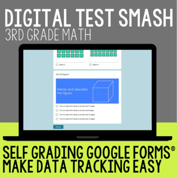 Test Prep 3rd Grade Math:Test Smash