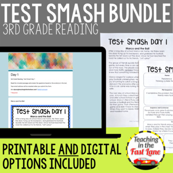 Test Prep 3rd Grade Reading:Test Smash