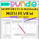4th Grade Morning Worksheets and Go Math! Notebook BUNDLE-
