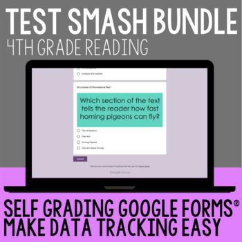 Reading Test Prep 4th Grade by Teaching In the Fast Lane | TpT