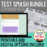 Distance Learning Math Test Prep 5th Grade Bundle {Digital and Printable}