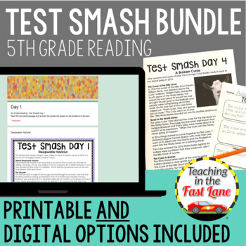 Test Prep 5th Grade Reading:Test Smash