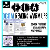 Digital Reading Warm-Ups